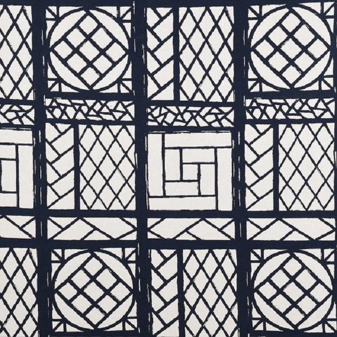 Tecidos Joaçaba decoração JACQUARD OSLO BLUE Geométricos