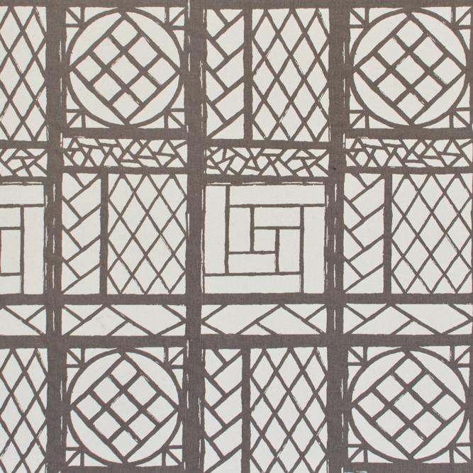 Tecidos Joaçaba decoração JACQUARD OSLO PEWTER Geométricos